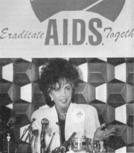 Elizabeth Taylor fights AIDS